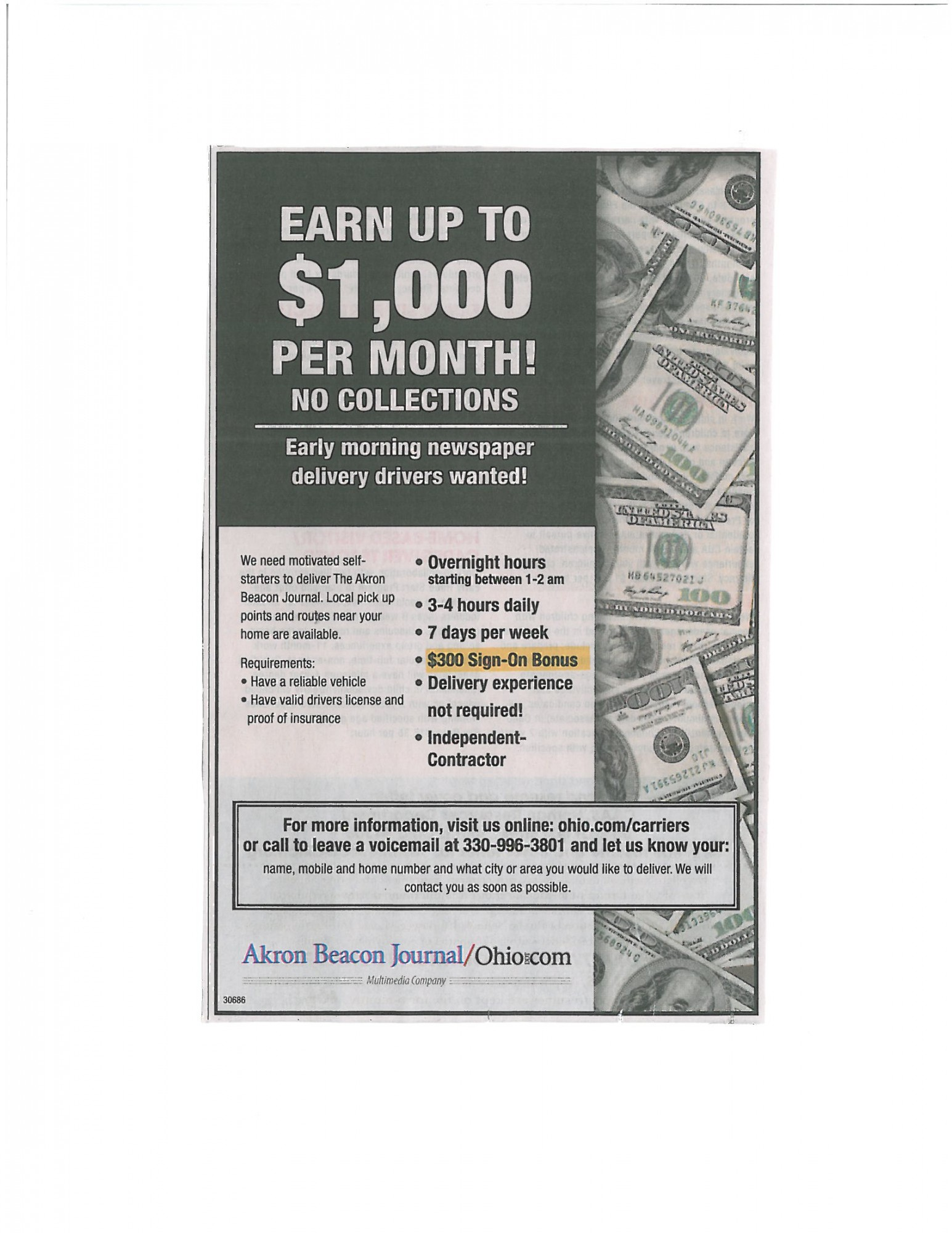 Earn Up To $1000 per month