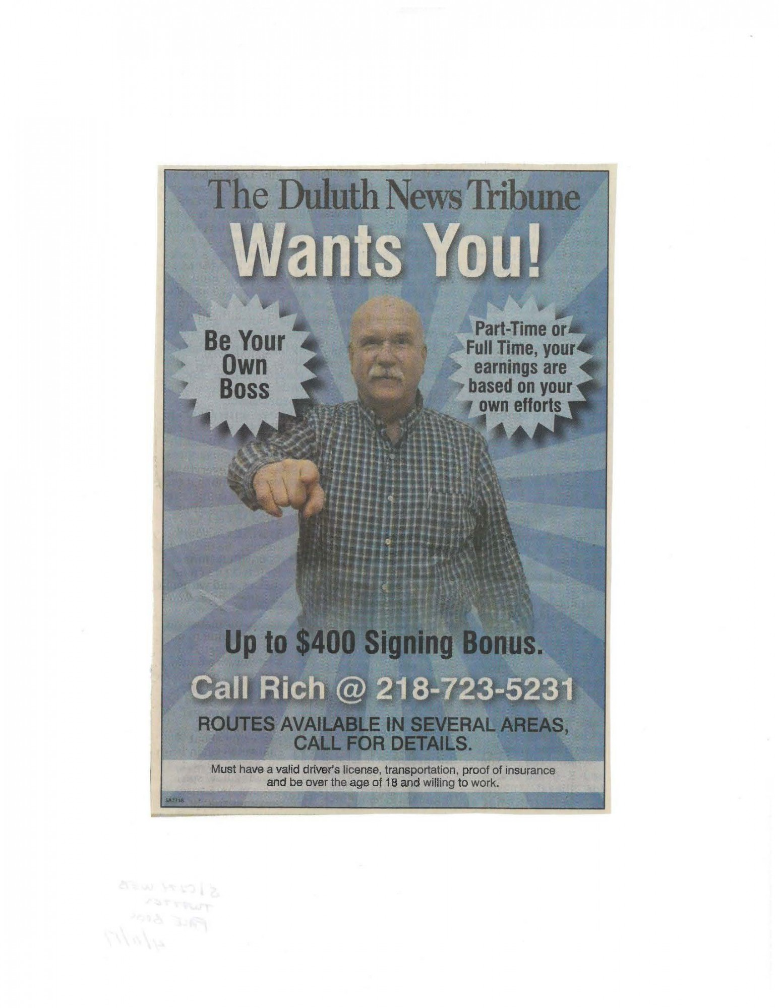 Idea #34 of 50 Days of Ideas! THE DULUTH NEWS TRIBUNE WANTS YOU!