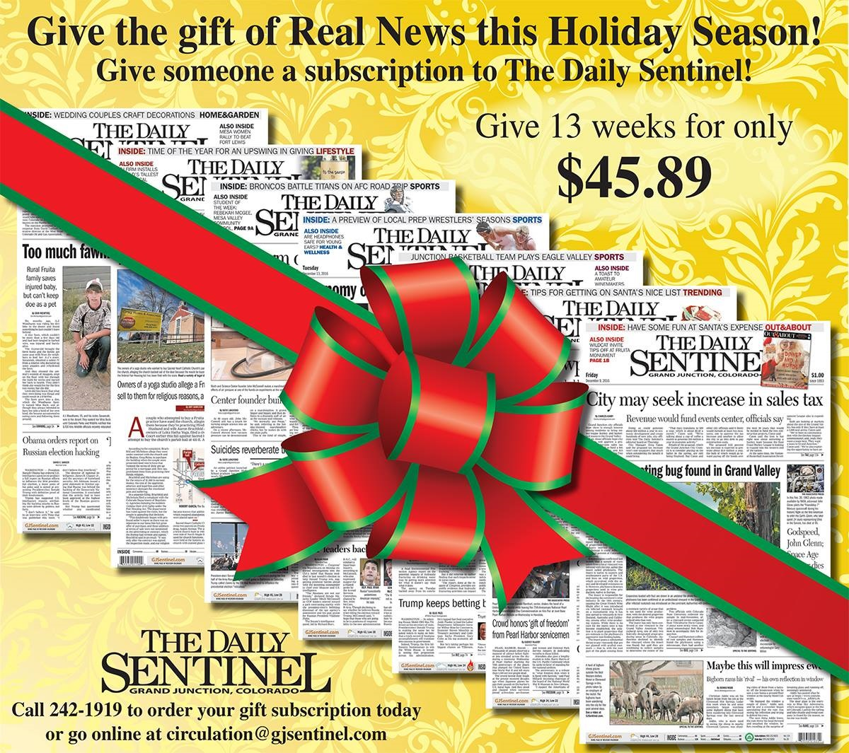 Idea #4 of 50 Days of Ideas! Give the gift of Real News!