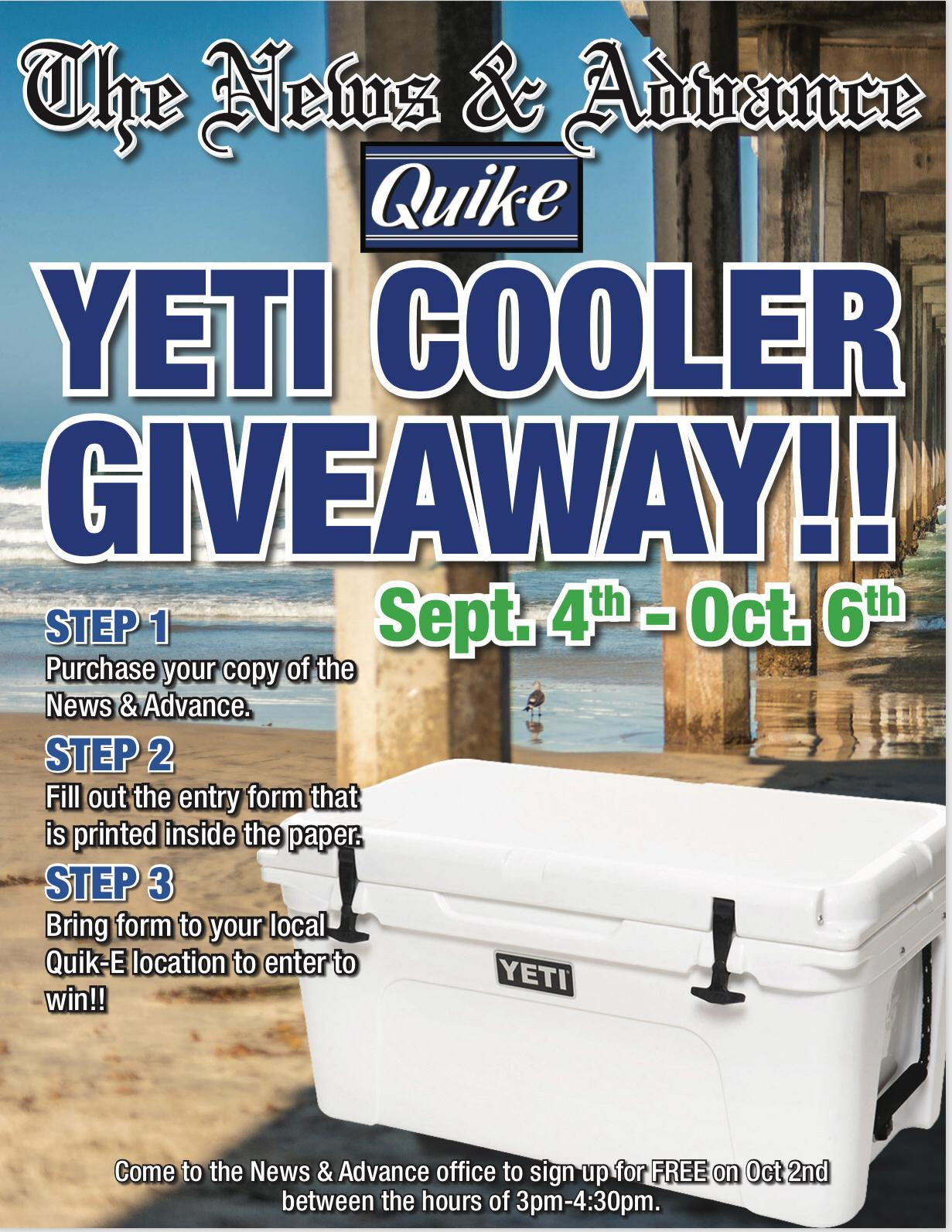 Idea #40 of 50 Days of Ideas! YETI COOLER GIVEAWAY!