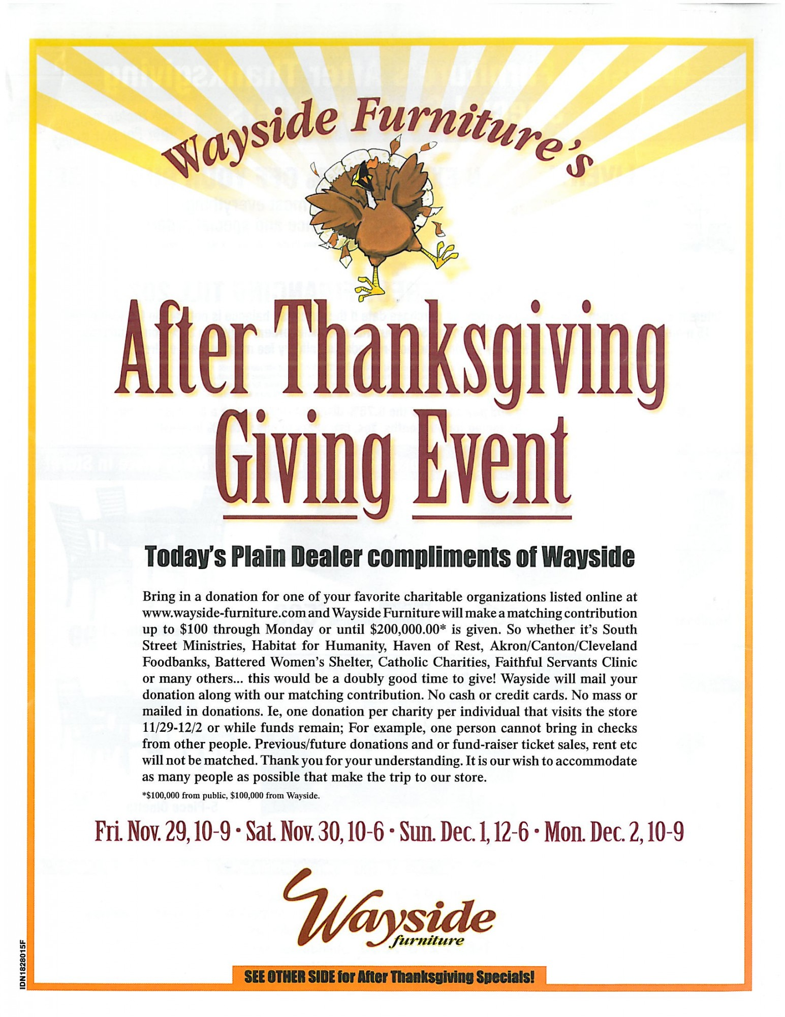 After Thanksgiving Giving Event