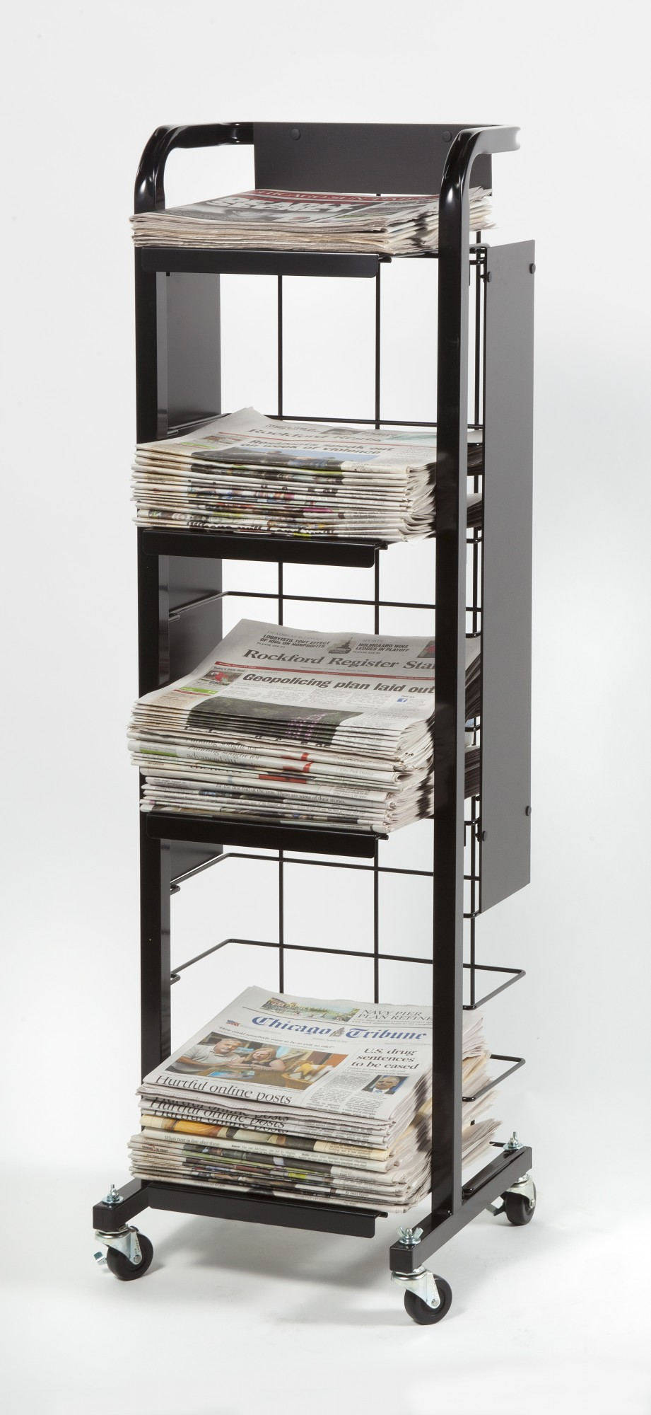 F-110 Tall Broadsheet Display Cart