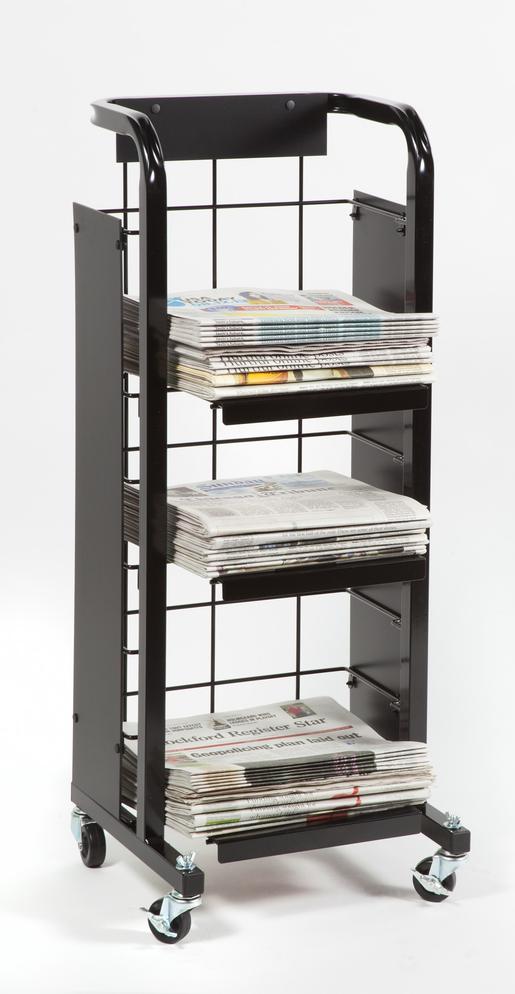 F-110 Short Broadsheet Display Cart