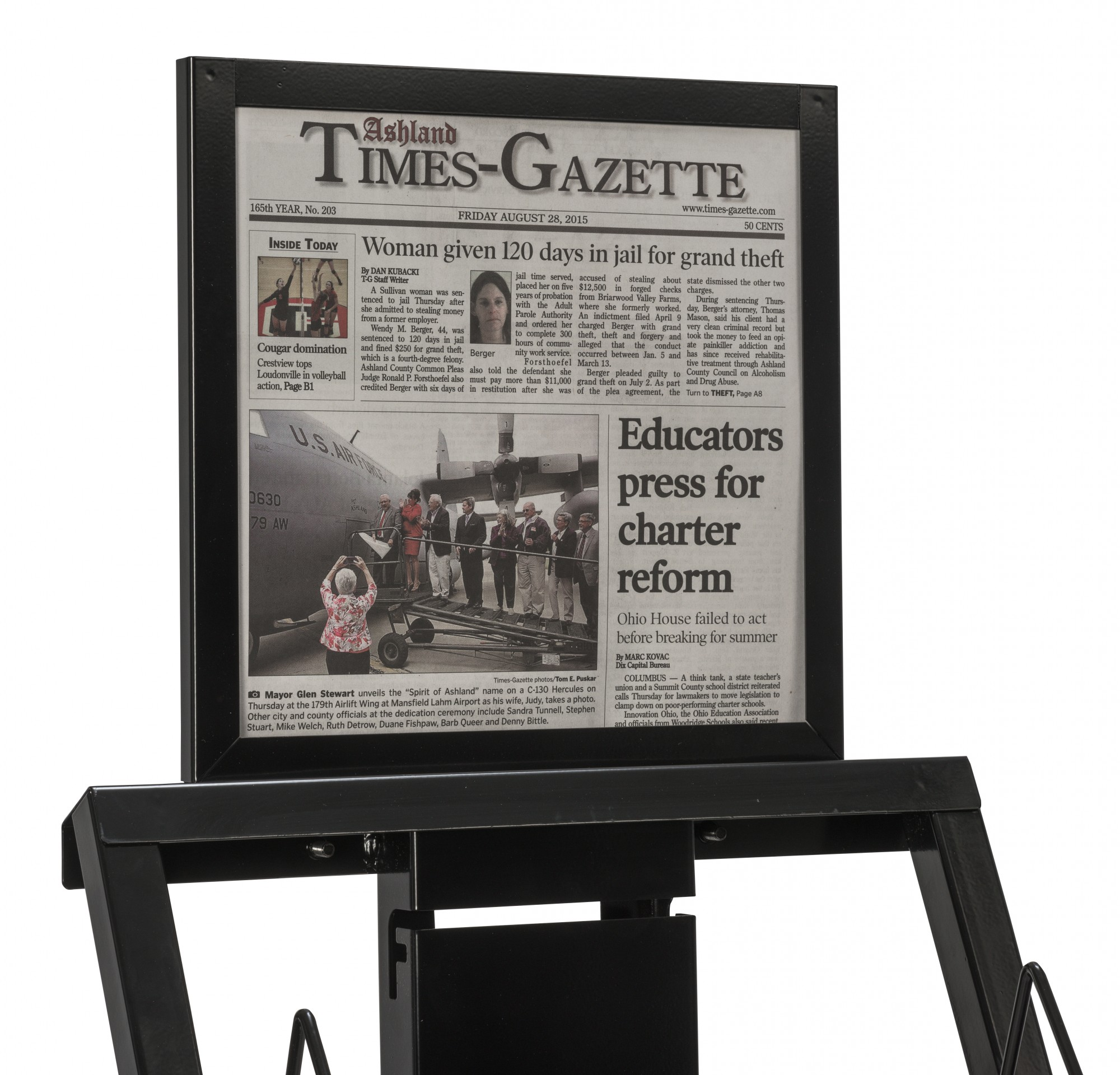 F-2015 Display Rack Top Mounted Paper Holder