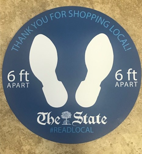 Idea #21 of 50 Days of Ideas! Social Distancing Reminder Floor Decals !