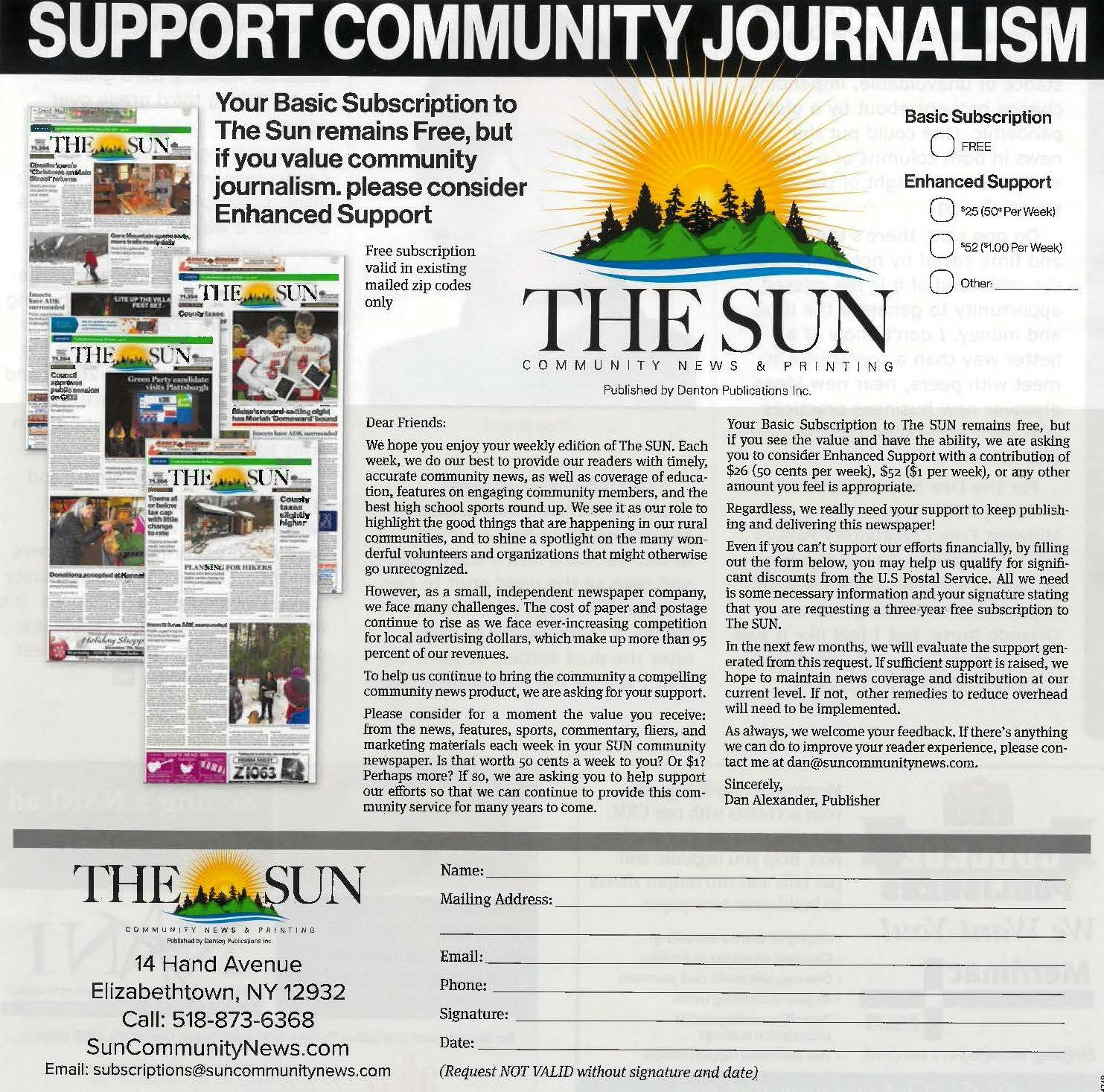 Idea #26 of 50 Days of Ideas! SUPPORT COMMUNITY JOURNALISM!